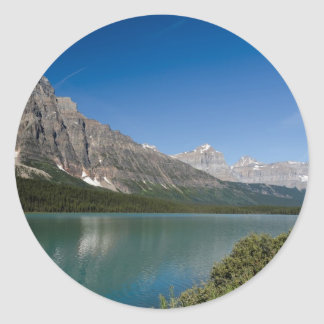 Waterfowl Lakes Icefields Parkway Alberta Canada Classic Round Sticker