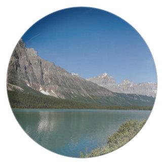 Waterfowl Lakes Icefields Parkway Alberta Canada Plate