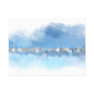 """""""Waterfront"""" 24"""" x 18"""" abstract modern art Canvas Print"""
