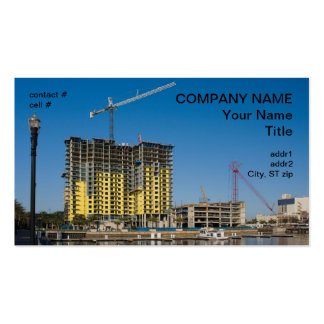 waterfront apartment construction Double-Sided standard business cards (Pack of 100)