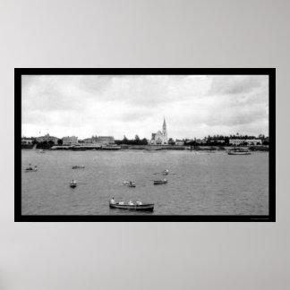Waterfront at Dar-es-Salaam, Tanganyika 1902 Poster