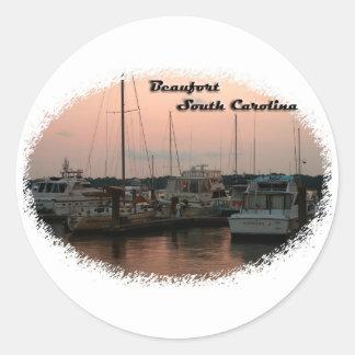 Waterfront, Beaufort, SC Classic Round Sticker