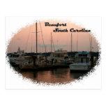 Waterfront, Beaufort, SC Postcard