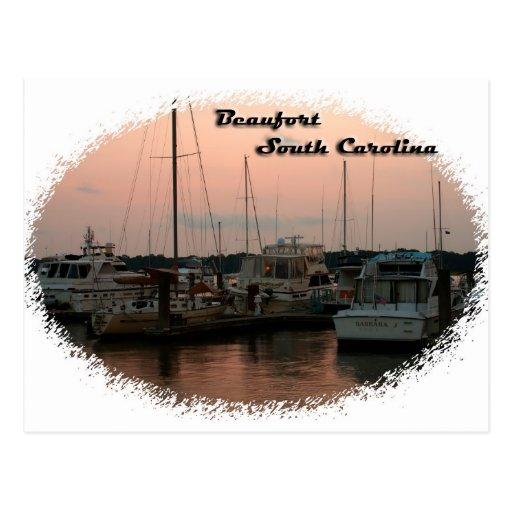 Waterfront, Beaufort, SC Postcards