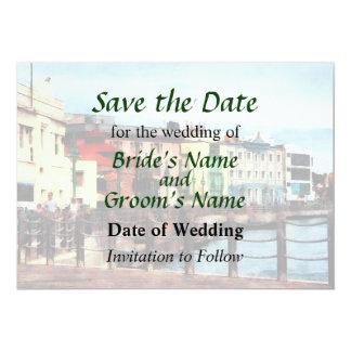Waterfront Bridgetown Barbados Save the Date Card