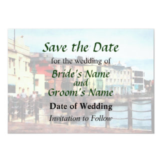 Waterfront Bridgetown Barbados Save the Date Custom Invitations