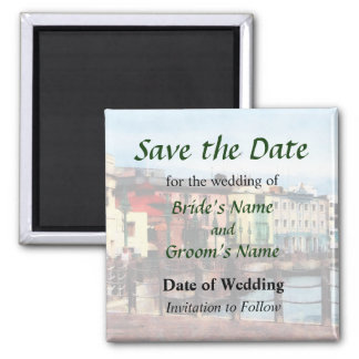 Waterfront Bridgetown Barbados Save the Date Magnet
