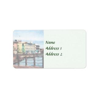 Waterfront Bridgetown Barbados Wedding Products Label