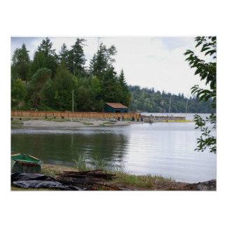 Waterfront cabin poster
