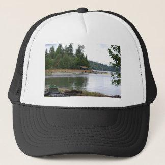Waterfront cabin trucker hat