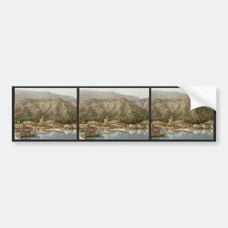 Waterfront, Campione, Italy classic Photochrom Bumper Stickers