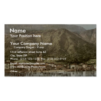 Waterfront, Campione, Italy classic Photochrom Double-Sided Standard Business Cards (Pack Of 100)