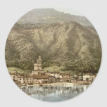Waterfront, Campione, Italy classic Photochrom Stickers