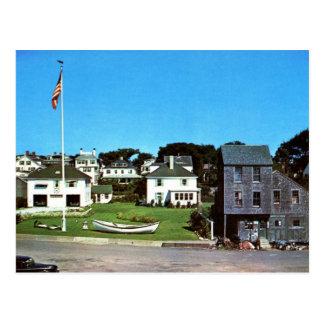 Waterfront, Edgartown, MA Vintage Postcard