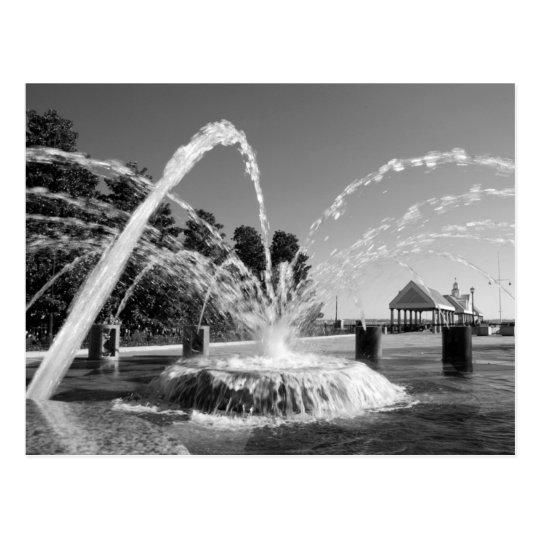 Waterfront Fountain Postcard