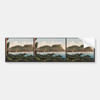 Waterfront, Garda, Lake of, Italy classic Photochr Bumper Stickers