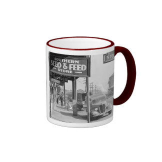Waterfront in New Orleans. French market Ringer Mug