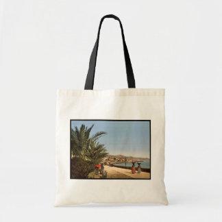 Waterfront promenade, San Remo, Riviera classic Ph Canvas Bag