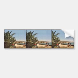 Waterfront promenade, San Remo, Riviera classic Ph Bumper Stickers