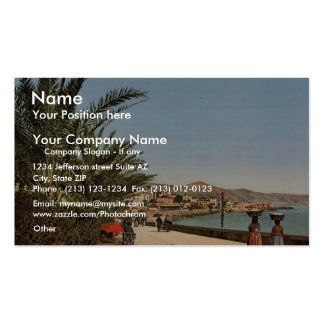 Waterfront promenade, San Remo, Riviera classic Ph Double-Sided Standard Business Cards (Pack Of 100)
