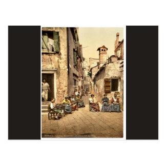 Waterfront promenade, San Remo, Riviera classic Ph Postcard