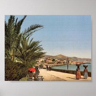 Waterfront promenade, San Remo, Riviera classic Ph Poster