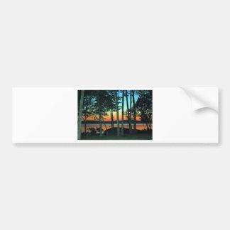Waterfront Sunset Bumper Sticker