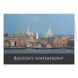 Waterfront--thank you stationery note card