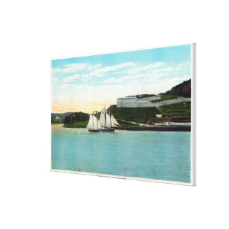 Waterfront View of Fort Knox Canvas Print