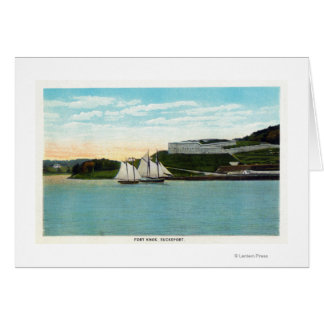 Waterfront View of Fort Knox Greeting Card