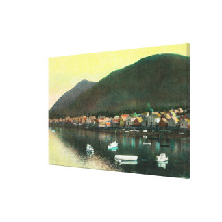 Waterfront View of Indian TownSitka, AK Canvas Print