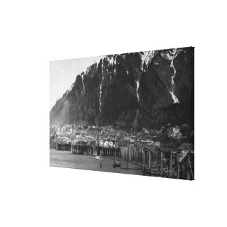 Waterfront View of Juneau, Alaska Photograph Canvas Print