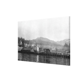 Waterfront View of Ketchikan, Alaska Canvas Print