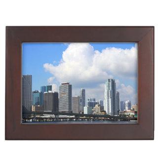 Waterfront view of Miami Keepsake Box