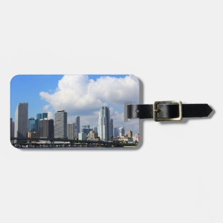 Waterfront view of Miami Luggage Tag