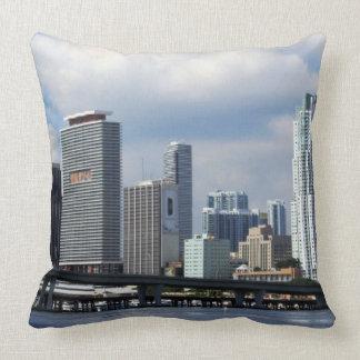 Waterfront view of Miami Throw Pillow