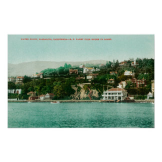 Waterfront View of San Francisco Yacht Club Posters