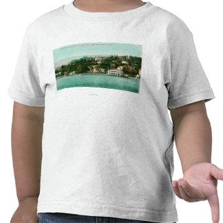 Waterfront View of San Francisco Yacht Club Tee Shirts