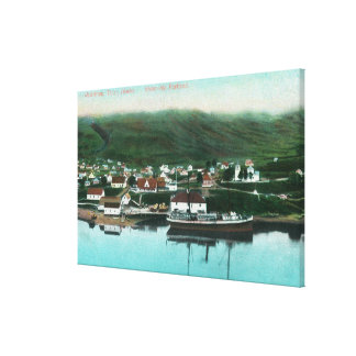 Waterfront View of the City and Steamer Canvas Print