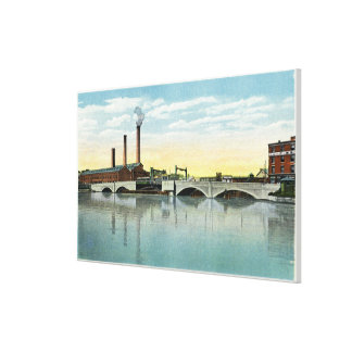 Waterfront View of the Congress Street Bridge Canvas Print