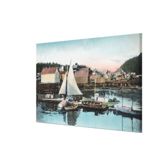 Waterfront View of the Floating Dock Canvas Print