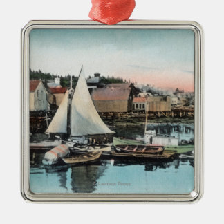 Waterfront View of the Floating Dock Christmas Ornament