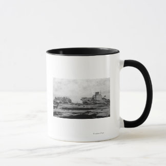 Waterfront warehouses at Astoria, OR Photograph Mug