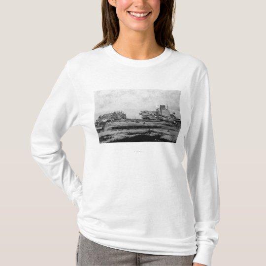 Waterfront warehouses at Astoria, OR Photograph T-Shirt