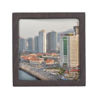 Waterfront with Yantai city skyline, Shandong Jewelry Box