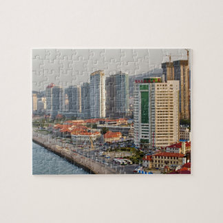 Waterfront with Yantai city skyline, Shandong Jigsaw Puzzle