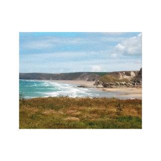 Watergate Bay Beach Newquay Cornwall England Canvas Print