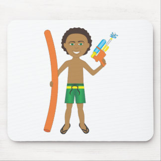 Watergun Pool Boy Mouse Pad
