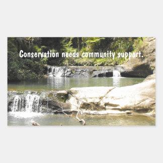 Waterhole on Goldie Bush Walk Rectangular Sticker