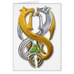 Waterhorse gold_silver greeting cards